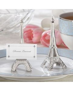 Eiffel Tower Silver Finish Place Card Holder (Set of 4)