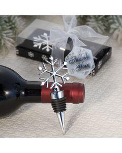 Elegant Snowflake Design Wine Bottle Stopper Favors