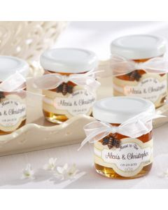 """""""Meant to Bee"""" Personalized Clover Honey Wedding Favor (Set of 12)"""