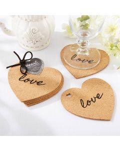 Heart Cork Coasters (Set of 4)