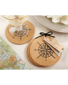 Let the Journey Begin Cork Coasters (set of 4)