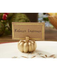 Gold Pumpkin Place Card Holder (Set of 6)