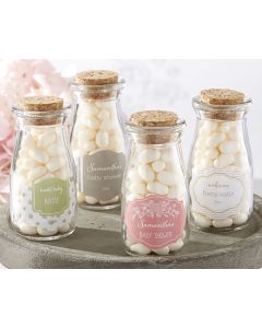 Personalized Milk Jar - Rustic Baby Shower (Set of 12)