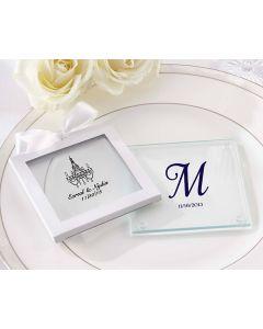 Personalized Glass Coasters (Wedding) (Set of 12)