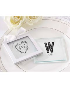 Personalized Glass Coasters- Kate's Rustic Wedding(Set of 12)