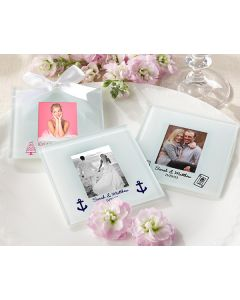 Personalized Frosted-Glass Photo Coaster (Set of 12)