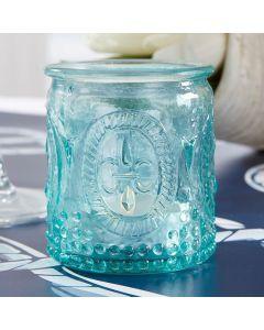 """""""Vintage"""" Blue Glass Tealight Holder (set of 4)"""