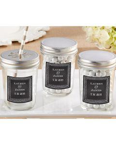 Personalized Mason Jar - Chalk (Set of 12)