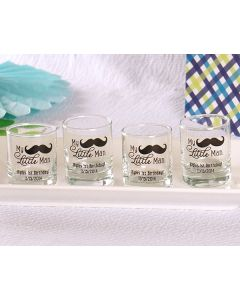 """Personalized """"My Little Man"""" Printed Shot Glass/Votive Holder"""
