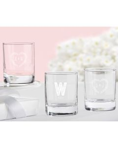 Personalized Shot Glass/Votive Holder -Rustic Wedding Collection