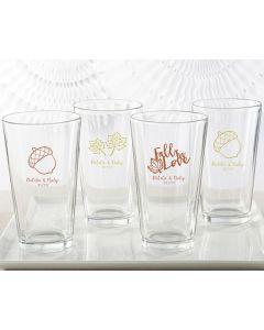 Personalized 16 oz. Pint Glass - Fall