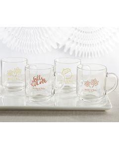 Personalized Glass Coffee Mug - Fall