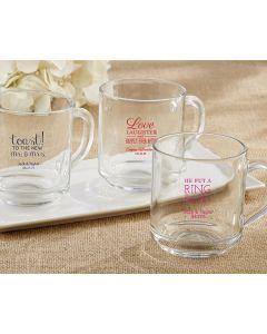 Glass Coffee Mug (Personalization Available)