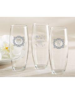 9 oz. Stemless Champagne Glass – Milestone Silver