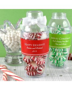 Holiday Cocktail Shaker Favor