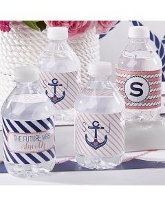 Personalized Water Bottle Labels Nautical Bridal Collection