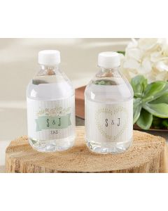 Personalized Water Bottle Labels - Kate's Rustic Wedding Collection