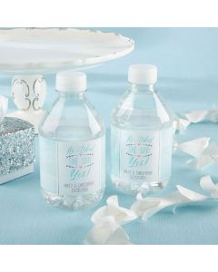 Personalized Water Bottle Labels – He Asked, She Said Yes