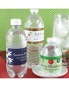 Holiday Water Bottle Labels (Set of 5)