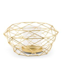 Modern Gold Geometric Metal Table Centerpiece