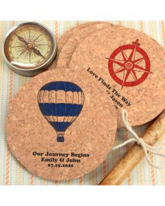 Personalized Round Cork Coasters