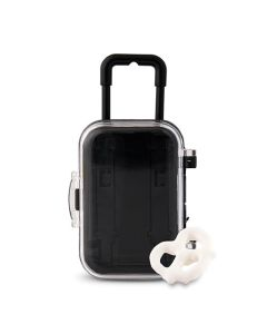 Miniature Travel Trolley With Wheels And Retractable Handle (Set of 6)