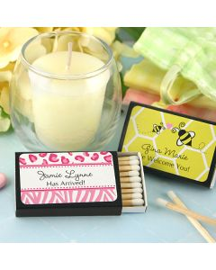 Baby Personalized Matches - Set of 50 (Black Box)