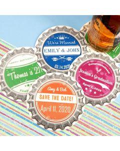 Vintage Bottle Cap Paper Coasters