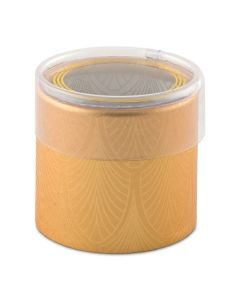 Art Deco Cylinder Boxes With Clear Lid (Set of 6)