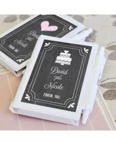 Chalkboard Wedding Personalized Notebook Favors