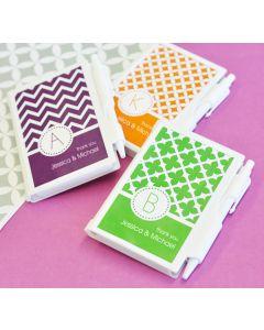 MOD Pattern Monogram Notebook Favors