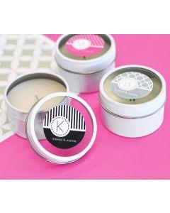 MOD Pattern Monogram Round Candle Tins