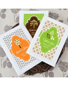 Personalized Fall Wildflower Seed Favors