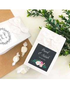 Personalized Floral Garden Sweet Shoppe Candy Boxes (set of 12)