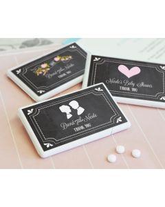 Chalkboard Wedding Personalized Mini Mint Favors