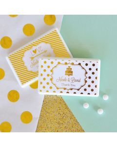 Personalized Metallic Foil Mini Mint Favors - Wedding