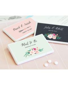 Personalized Floral Garden Mini Mint Favors