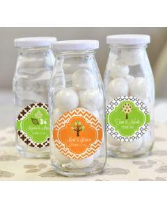 Personalized Fall Milk Bottles