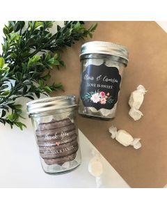 Personalized Floral Garden Mini Mason Jars