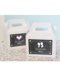 Chalkboard Wedding Personalized Mini Gable Boxes (set of 12)