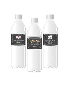 Chalkboard Wedding Personalized Water Bottle Labels