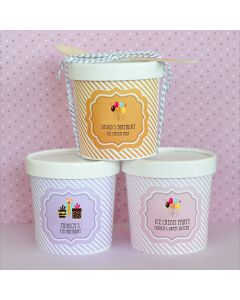 Birthday Mini Ice Cream Containers