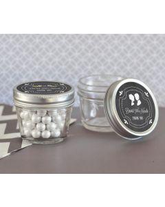 Chalkboard Wedding Personalized Small 4 oz Mason Jars