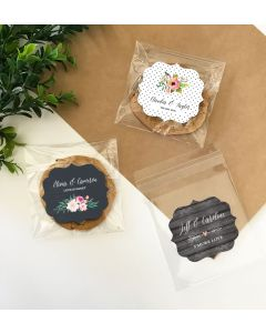 Personalized Floral Garden Clear Candy Bags (Set of 24)