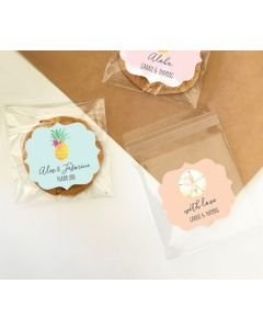 Personalized Tropical Beach Clear Candy Bags (Set of 24)