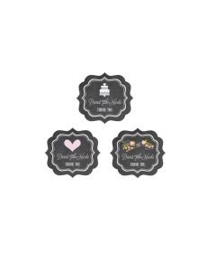 Chalkboard Wedding Personalized Frame Labels