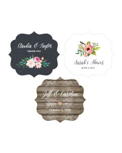 Personalized Floral Garden Frame Labels