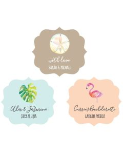Personalized Tropical Beach Frame Labels