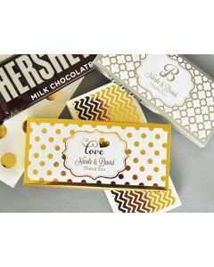 Personalized Metallic Foil Candy and Chocolate Bar Wrapper Covers