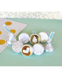 Personalized Metallic Foil Hershey's® Kisses Labels Trio (set of 108)